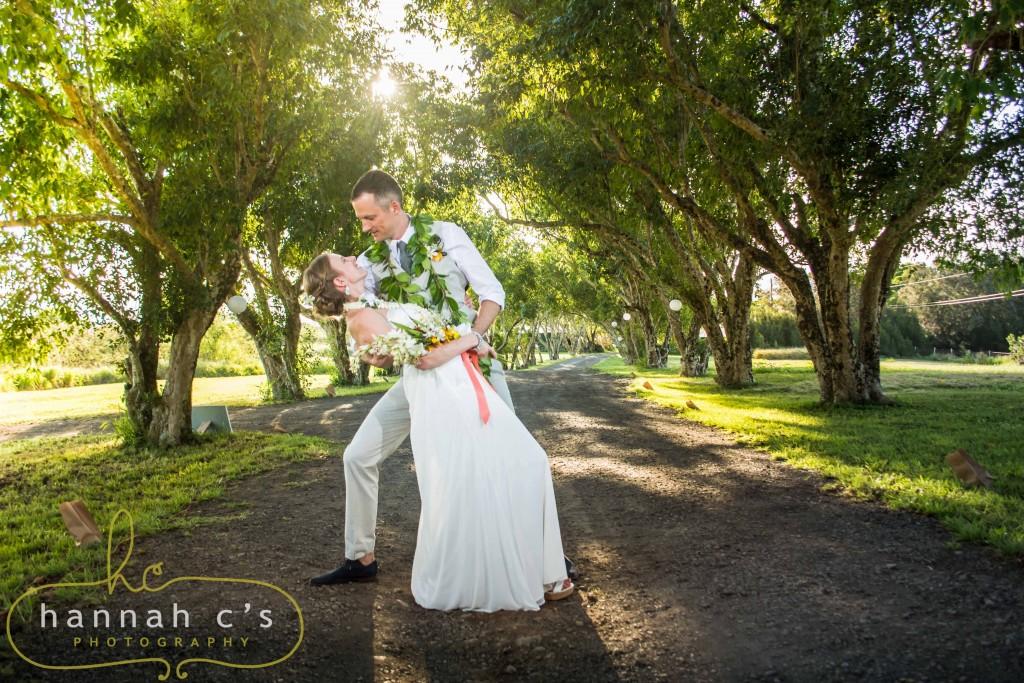 Puakea Ranch Wedding Dip Photography