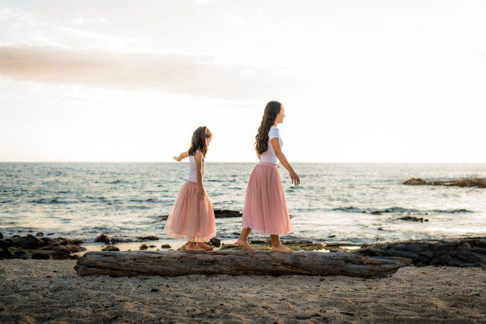 old kona airport beach, family, photography, big island, hawaii, sisters