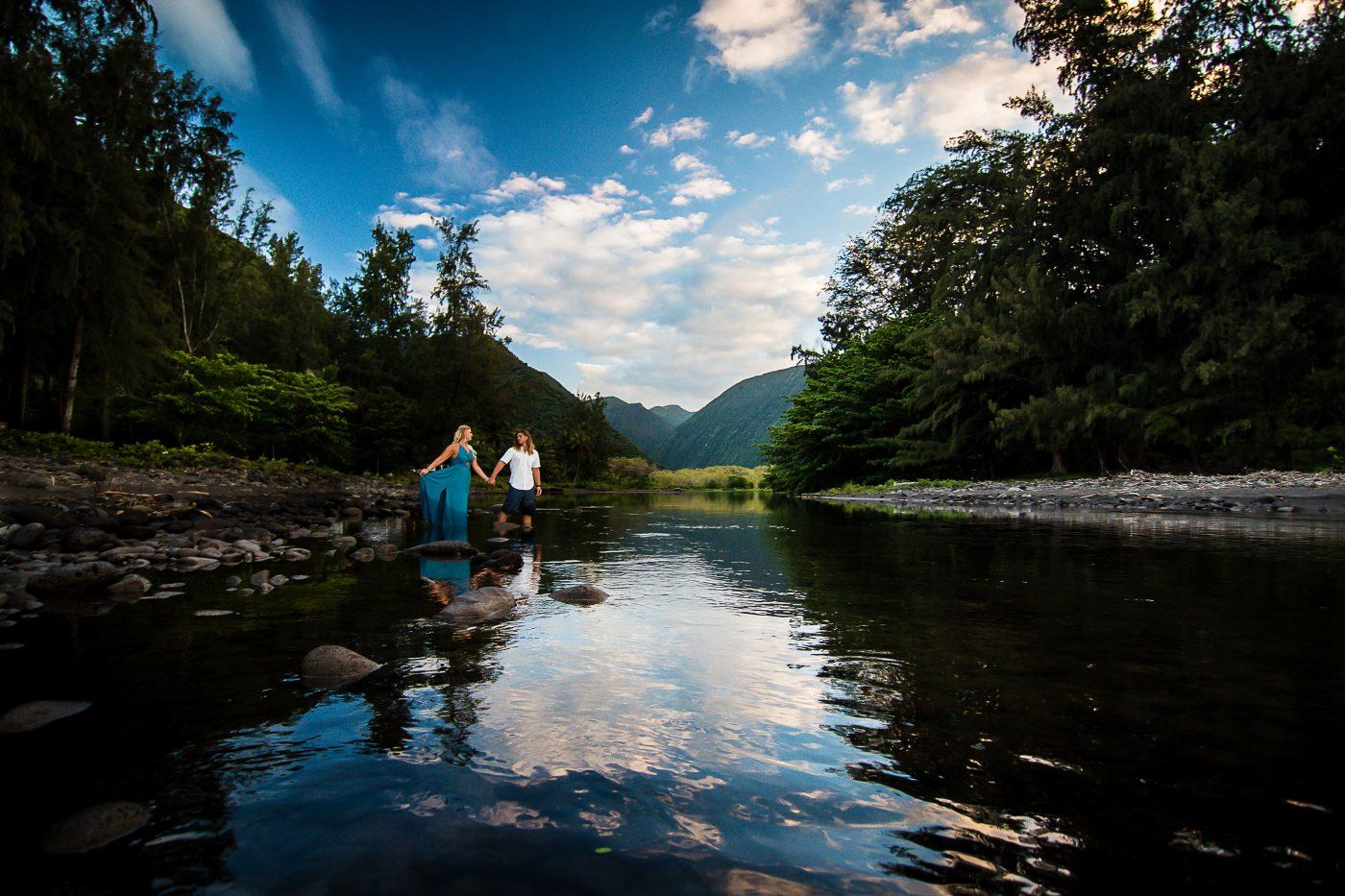 waipio valley, big island, hawaii, engagement