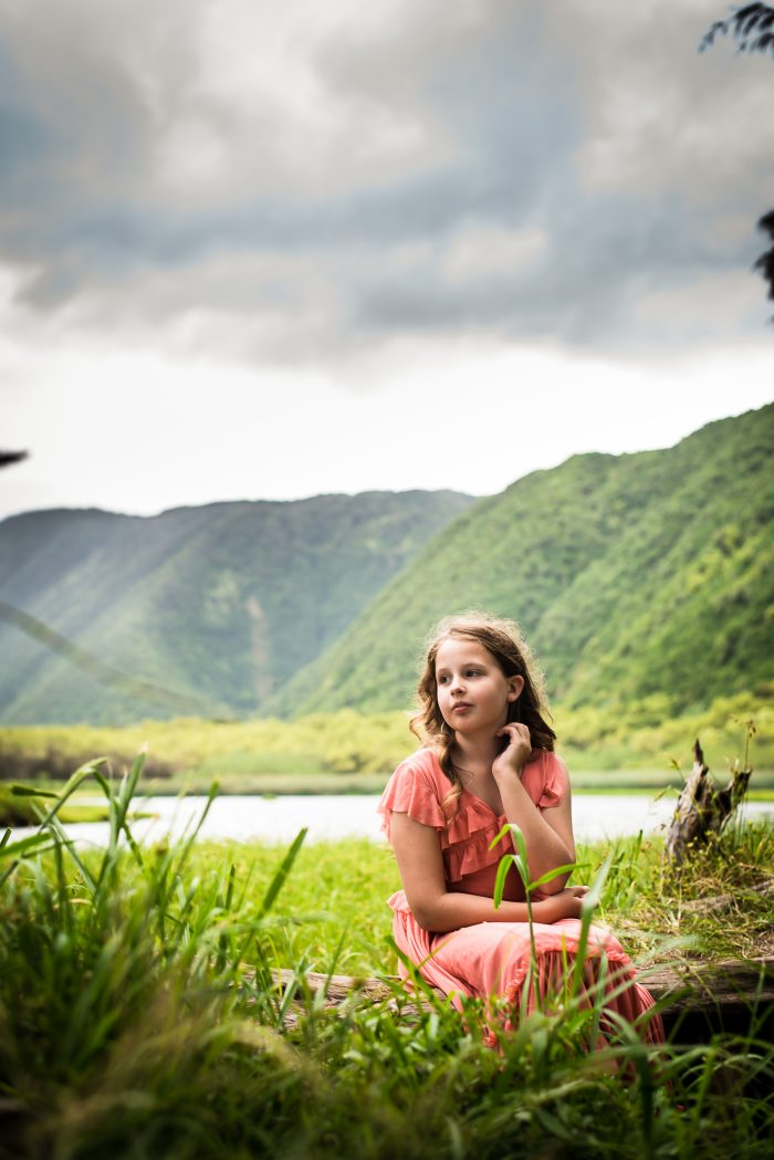 girl, poll valley, portrait, big island